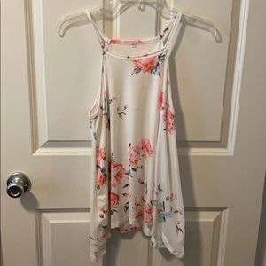 Tops - Floral tank! Perfect condition!